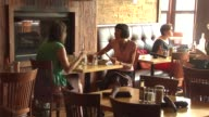 WGN People eating in the farmtotable restaurant at Uncommon Ground on Aug 25 2014 in Chicago