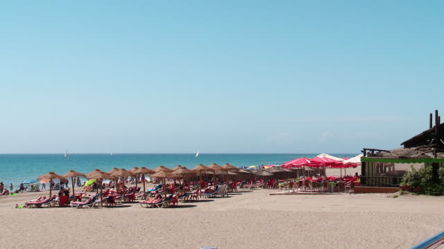 WS People enjoying at La Rada beach / Estepona, Malaga