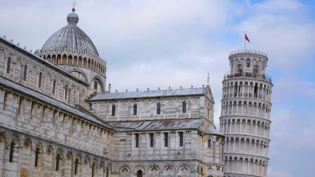 MS People enjoying at Piazza dei Miracoli, Piazza del Duomo, Cathedral and Leaning Tower / Pisa, Tuscany, Italy