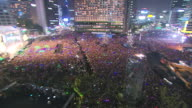 MS PAN People enjoying concert at Seoul City hall Plaza / Seoul, Seoul, South Korea