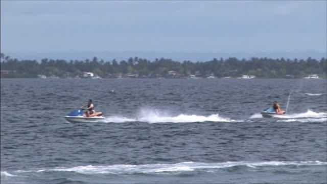 People enjoying jet skiing