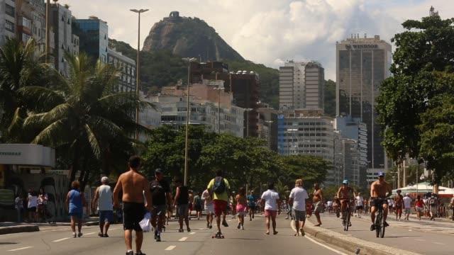 People exercise next to Copacabana Beach on March 29 2013 in Rio de Janeiro Brazil Rio De Janeiro Brazil's World City on March 31 2013 in Rio de...
