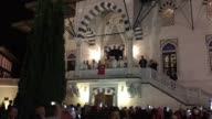 People gather at the Martyrdom Mosque in Berlin Germany on July 15 2017 t o commemorate the the victims of the July 15 coup attempt in Turkey Turks...