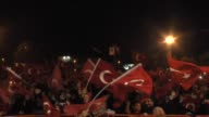 People gather during a protest against July 15 failed military coup attempt at Demokrasi Square in Sakarya Turkey on August 04 2016 Turkish officials...