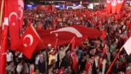 People gather to protest July 15 failed military coup attempt at Kizilay Square in capital Ankara Turkey on August 09 2016 Turkish officials accuse...