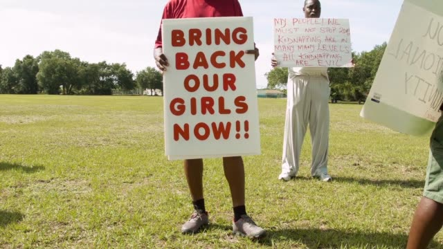 MS people gather to support the Coalition of Concerned Nigerians in South Florida during a rally to show support for national and international...