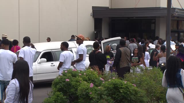 WGN People Gathered Outside Funeral For 7YearOld Amari Brown Killed In Chicago Gang Shooting on July 11 2015