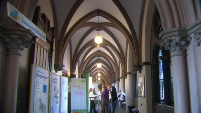 MS People getting information about Marburg's newly passed solar initiative at Marburg city hall / Marburg, Germany