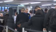 People Getting Their Boarding Passes Checked at Chicago O'Hare Airport on December 20 2013 in Chicago Illinois