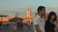 WS PAN People in Djemaa el Fna square, Marrakech, Morocco