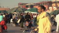 WS ZO People in Djemaa el Fna square, Marrakech, Morocco