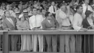 MS People in grandstand and watching horse race at Belmont