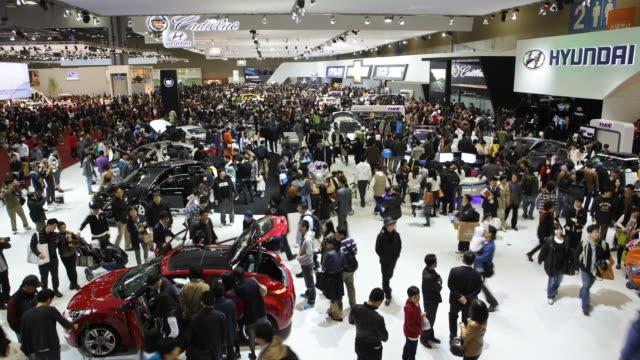 WS T/L People in motor exhibition / Goyang, Kyunggi, South Korea
