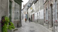 People in old town of Sancerre