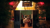 WS LD People in Restaurant at Night / Hoi An, Vietnam