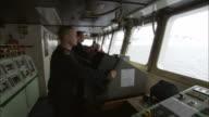 MS, People in ship's bridge, Antarctica