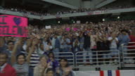 WS, PAN, People in sport stadium applauding on concert, Houston Astrodome, Texas, USA
