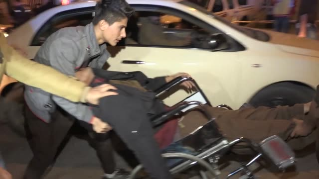 People injured in the earthquake are taken to Sulaimaniyah Hospital for treatment on November 12 in Sulaimaniyah Iraq An earthquake measuring 73 on...
