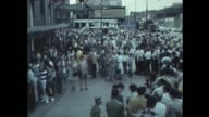 People line up outside of Wrigley Field on opening day April 8 1969