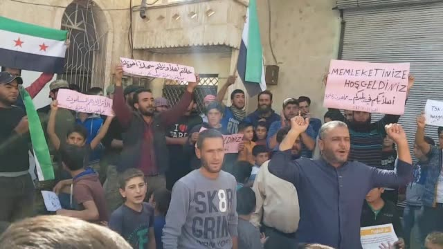 People living inside a deescalation zone established in and around Syria's Idlib province have given a warm welcome to Turkish troops deployed in the...