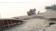 People losing their homes causes of Padma river erosion in Munshigonj near Dhaka Bangladesh on January 24 2016 Erosion is endemic in Bangladesh with...