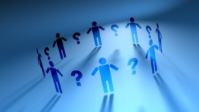 People Network & Question Marks (HD Loop)