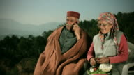 People of Himachal Pradesh: Senior couple using mobile phone