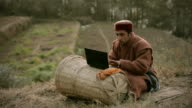 People of Himachal Pradesh: Young farmer using laptop