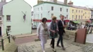People of Wales remember Charles and Diana's first royal tour Various of reporter along to Caernarvon Castle with women who met Diana in 1981...