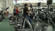 People On Elliptical Machine at National Institute For Fitness And Sport on October 06 2013 in Indianapolis Indiana