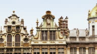 CU, ZO, WS, T/L, People on Grand-Place, Brussels, Belgium
