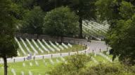 WS HA People on path at Arlington National Cemetery, Arlington, Virginia, USA