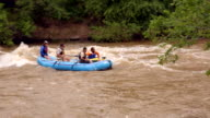 People on Raft Going Down River