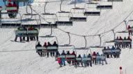 People on the ski lift