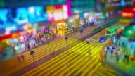 mensen op het zebrapad, Hong Kong