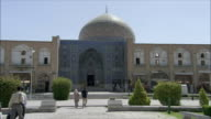 WS People outside Sheikh Loftolla Mosque, Esfahan, Iran