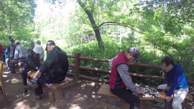 People playing Baduk around Bukhansan Mountain Park
