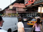 People riding in back of truck in traffic during citywide blackout on August 14 2003 / Queens New York USA / AUDIO