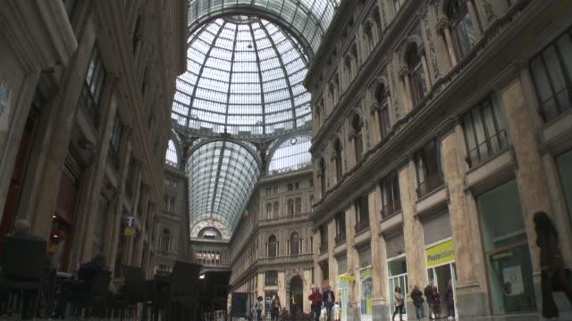 MS TU People roaming at Galleria Umberto I / Naples, Campania, Italy