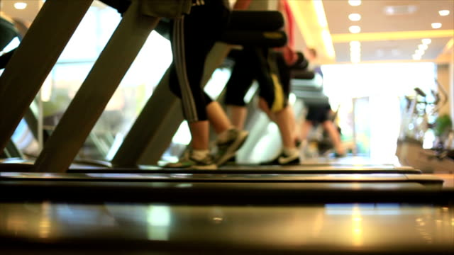 Sportler auf dem Laufband