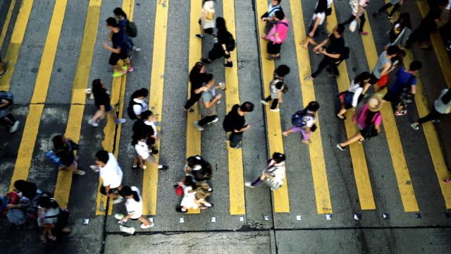 Mensen Rush in Hong Kong, China