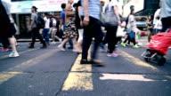 People Rush in Hong Kong, China