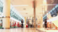 T/L People Rushing in Shopping Mall (Defocused)