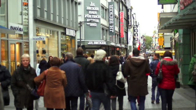 T/L People Rushing on the Shopping Street