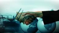 CGI MULTIPLE EXPOSURE CU people shaking hands