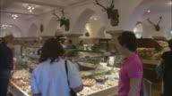 MS PAN People shopping at Dallmayr, luxury delicatessen, Munich, Bavaria, Germany