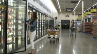People shopping in a warehouse supermarket
