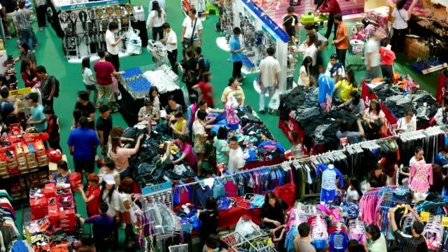 Personen-shopping-mall, Zeitraffer
