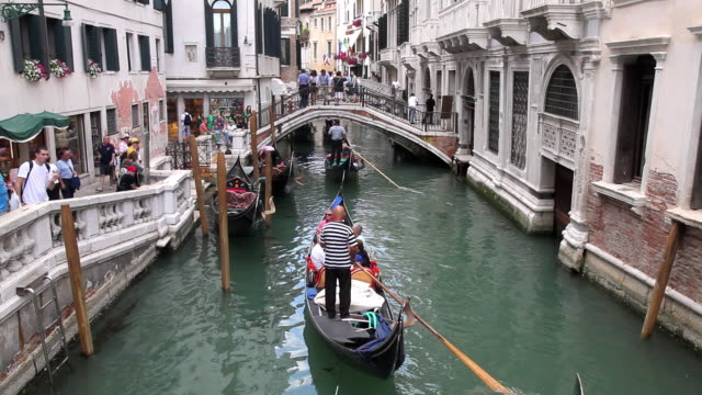 MS People sightseeing on Gondola trip / Venice, Italy