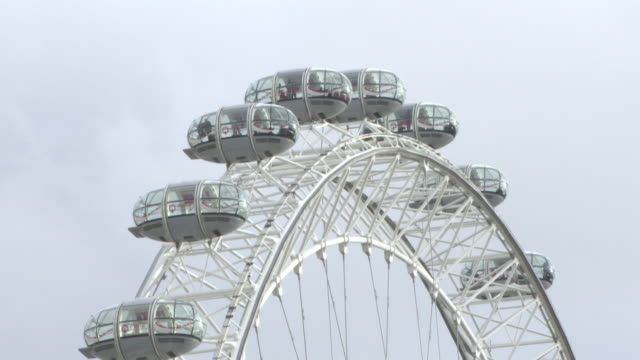 People stuck on the London Eye as Westminster goes into lock down at General Views Westminster Attack on March 22 2017 in London England